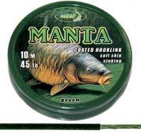 Coated Braided Hook links Manta Brown 45lb